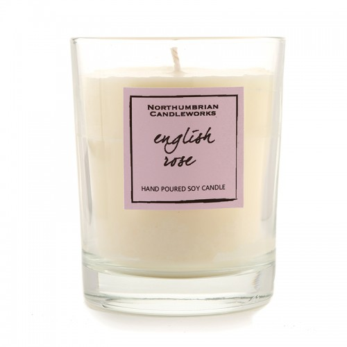 English Rose - Glass Candle Jar