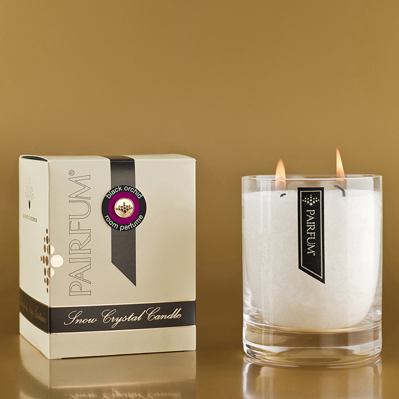 Black Orchid - large Glass Candle Jar