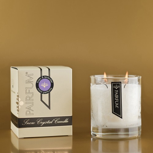 Linen & Lavender - Medium Glass Candle Jar