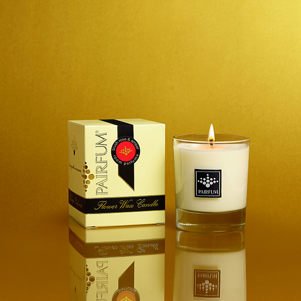 Blush Rose & Amber - Small Candle Jar