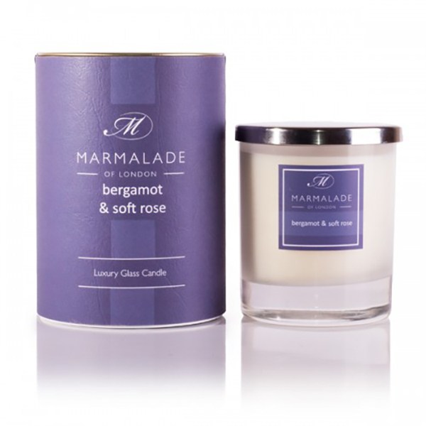 Bergamot & Soft Rose - Glass Candle Jar