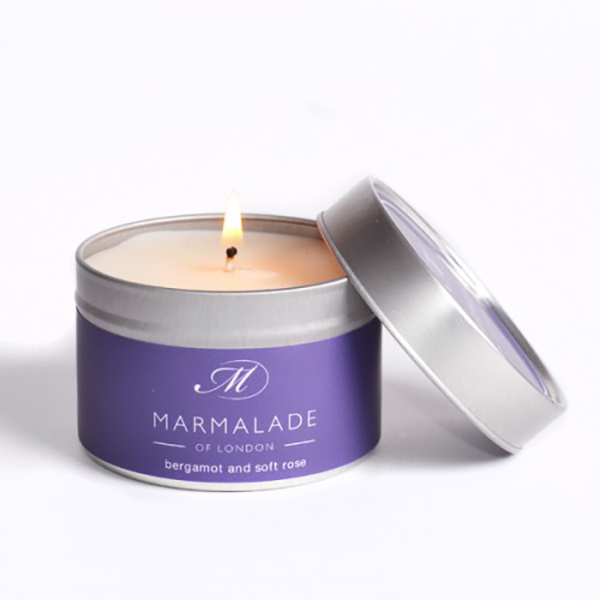 Bergamot & Soft Rose - Small Candle Tin