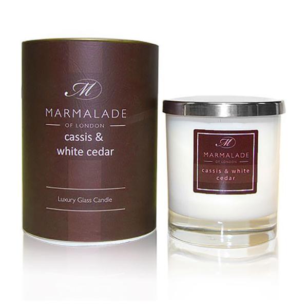 Cassis & White Cedar - Glass Candle Jar