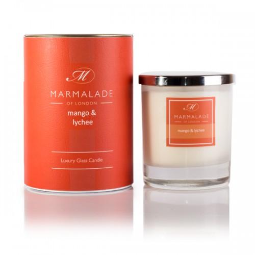 Mango & Lychee - Glass Candle Jar