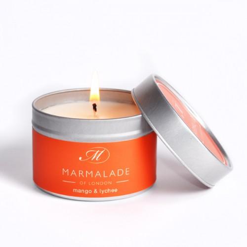 Mango & Lychee - Small Candle Tin