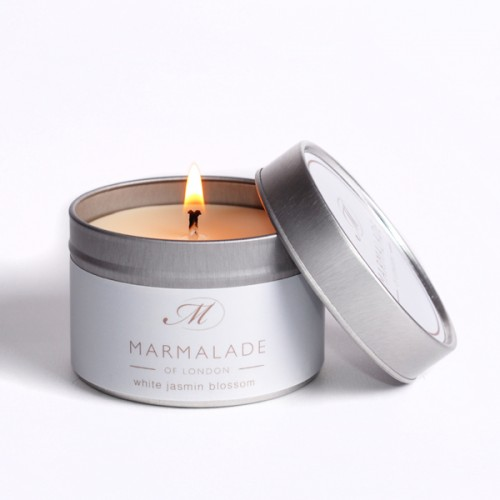 White Jasmine Blossom - Small Candle Tin