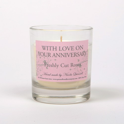 Anniversary - Small Candle Glass