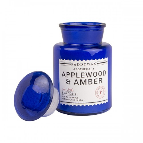 Applewood & Amber - Glass Candle Jar