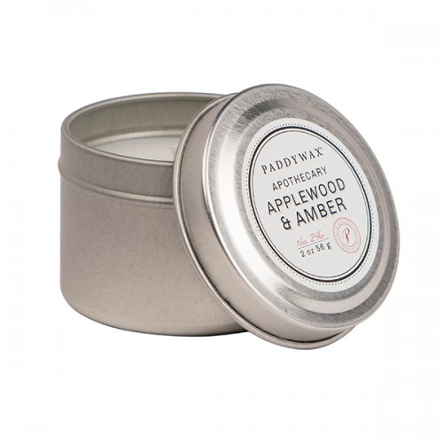 Applewood & Amber - Small Candle Tin