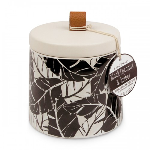 Black Coconut & Amber - Large Ceramic Jar