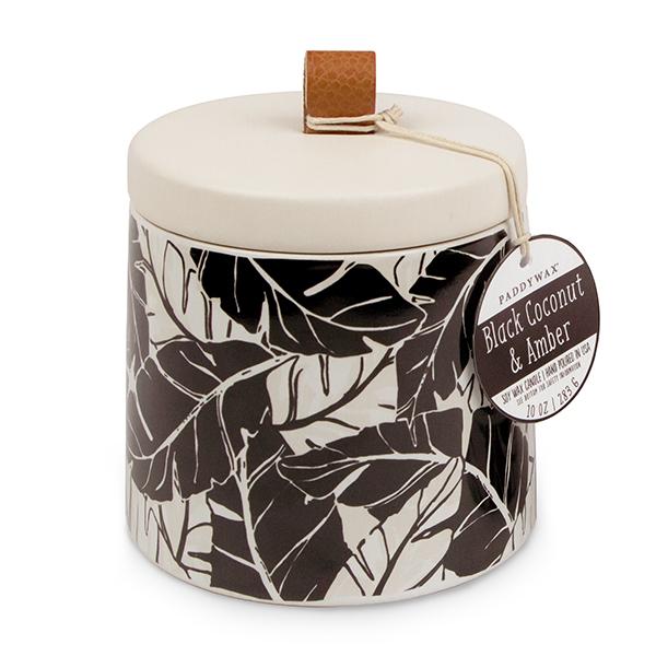Black Coconut & Amber - Large Ceramic Jar