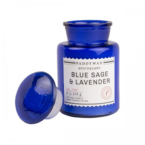 Blue Sage & Lavender - Glass Candle Jar