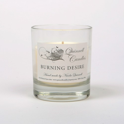 Burning Desire - Small Candle Glass