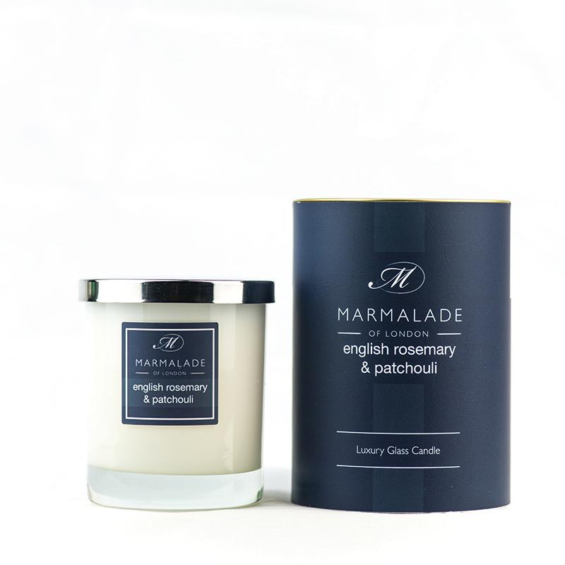 English Rosemary & Patchouli - Glass Candle Jar