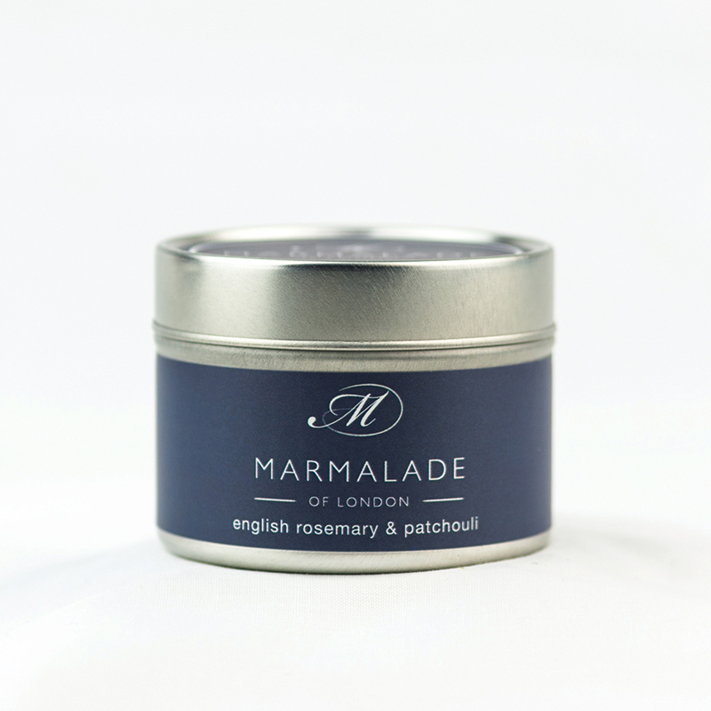 English Rosemary & Patchouli - Small Candle Tin