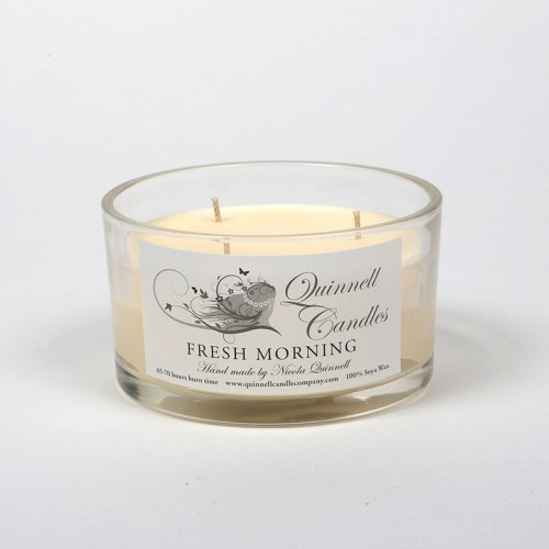 Fresh Morning - Large Candle Glass