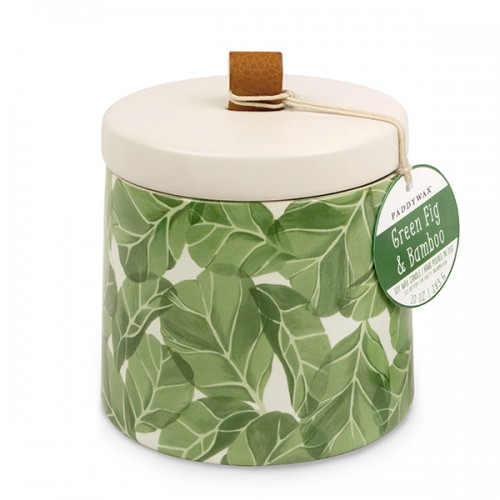 Green Fig & Bamboo - Large Ceramic Jar