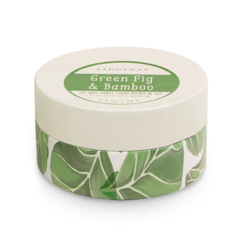 Green Fig & Bamboo - Small Candle Tin