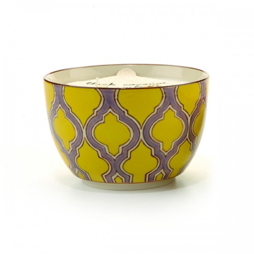 Green Fig & Violet - Large Candle Bowl