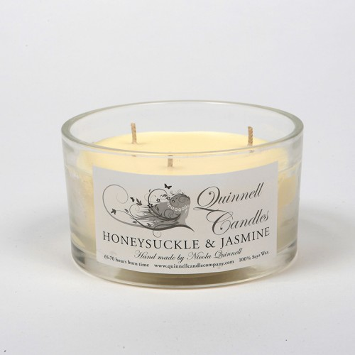 Honeysuckle & Jasmine - Large Candle Glass