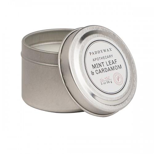Mint Leaf & Cardmon - Small Candle Tin