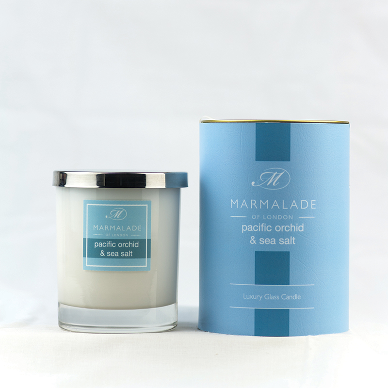 Pacific Orchid & Sea Salt - Glass Candle Jar