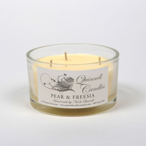 Pear & Freesia - Large Candle Glass