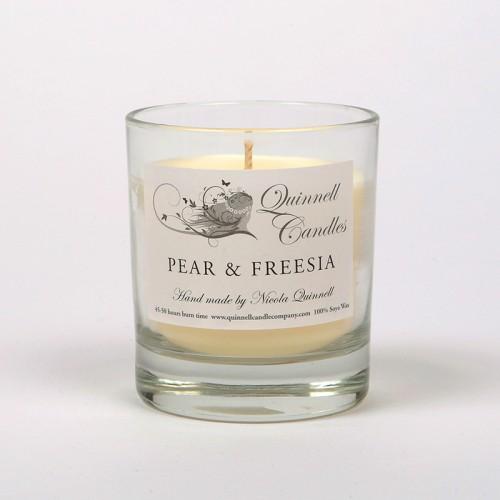 Pear & Freesia - Small Candle Glass