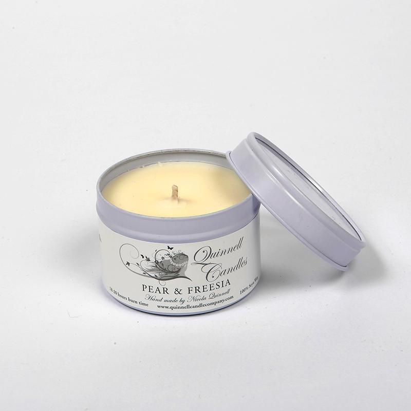 Pear & Freesia - Small Candle Tin
