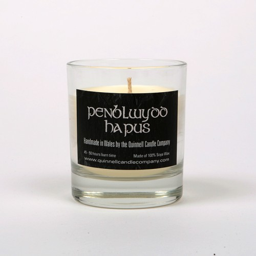 Penblwydd Hapus - Small Candle Glass