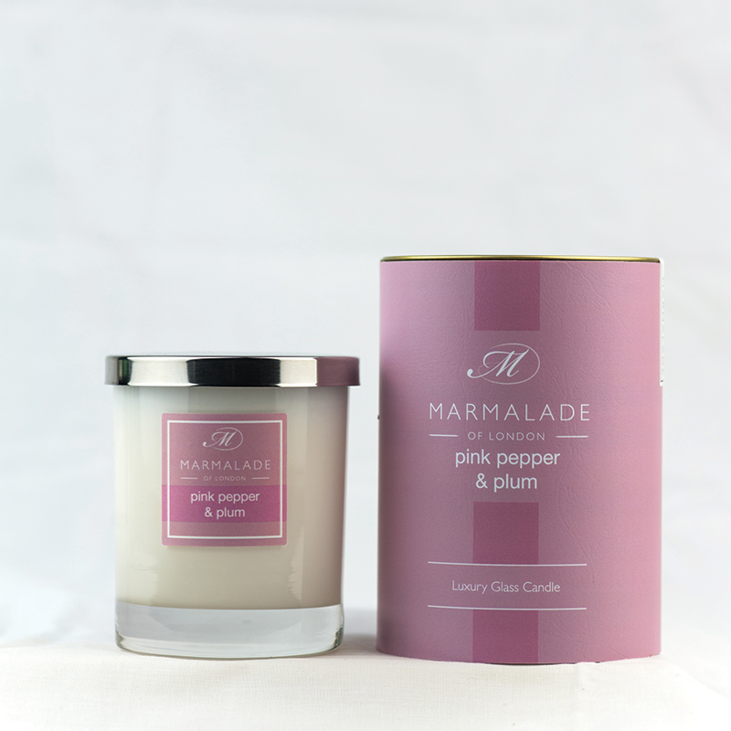 Pink Pepper & Plum - Glass Candle Jar