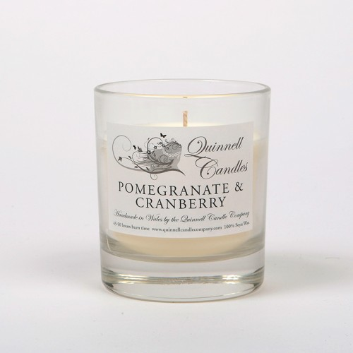 Pomegranate & Cranberry - Small Candle Glass