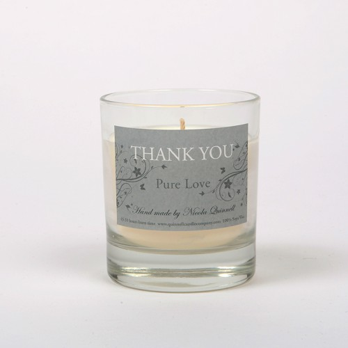 Thank you - Small Candle Glass