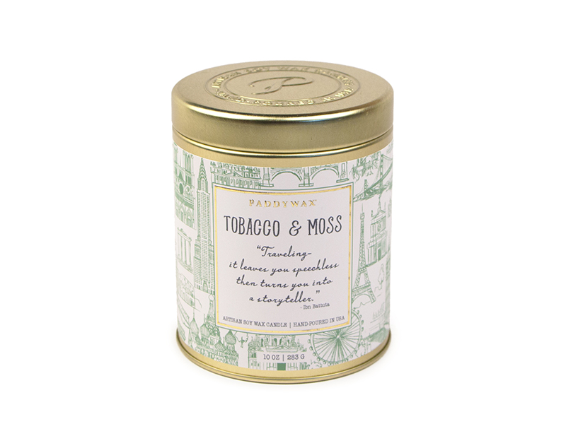 Tobacco & Moss - Large Candle Tin