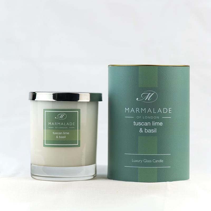 Tuscan Lime & Basil - Glass Candle Jar