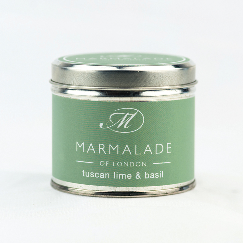 Tuscan Lime & Basil - Large Candle Tin