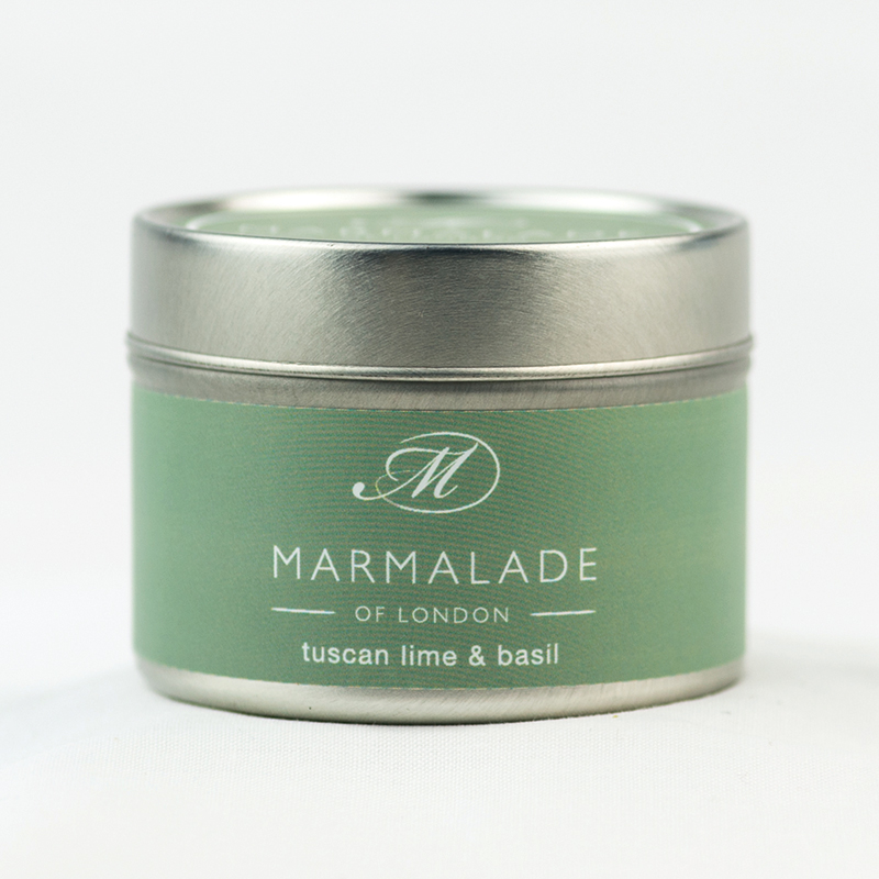 Tuscan Lime & Basil - Small Candle Tin