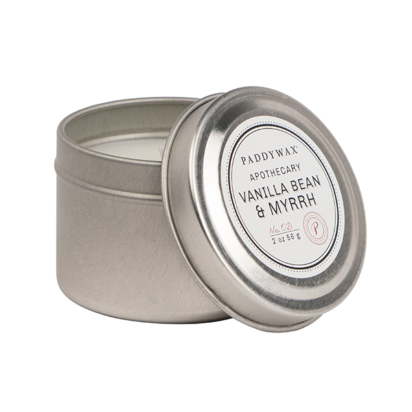 Vanilla Bean & Myrrh - Small Candle Tin