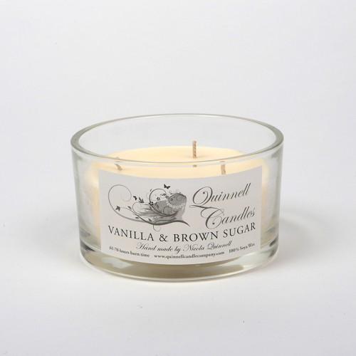 Vanilla & Brown Sugar - Large Candle Glass