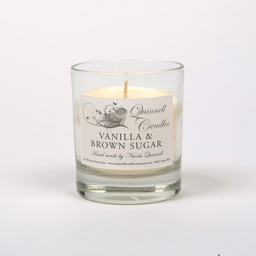 Vanilla & Brown Sugar - Small Candle Glass