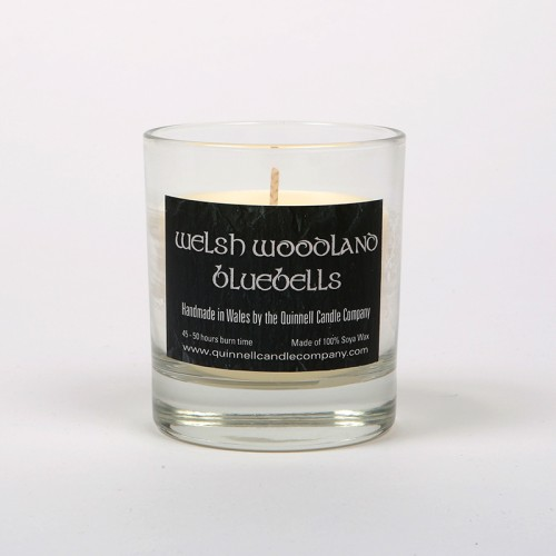 Welsh Woodland Bluebells - Small Candle Glass