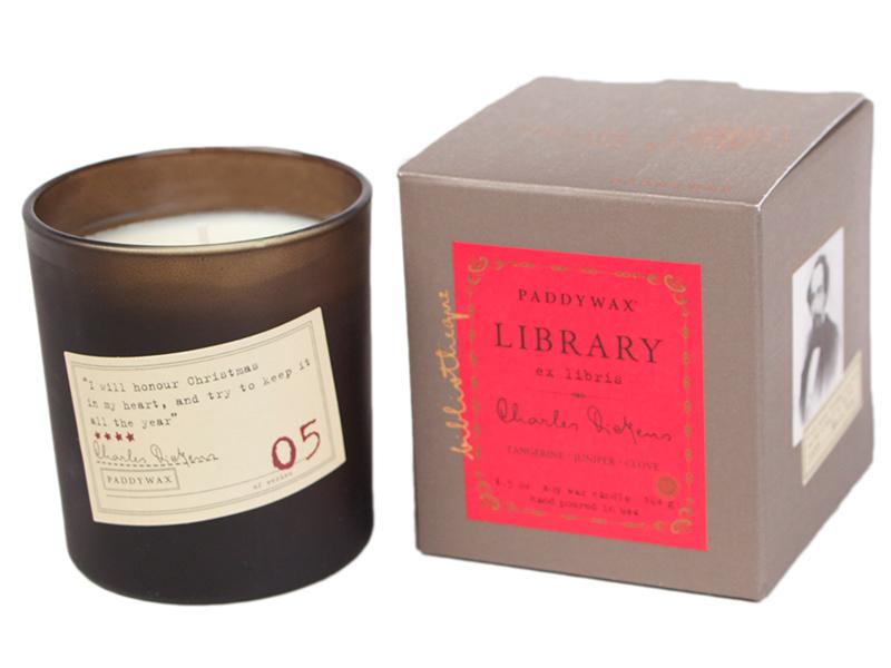 Charles Dickens. Tangerine, Juniper & Clove - Library Glass Jar