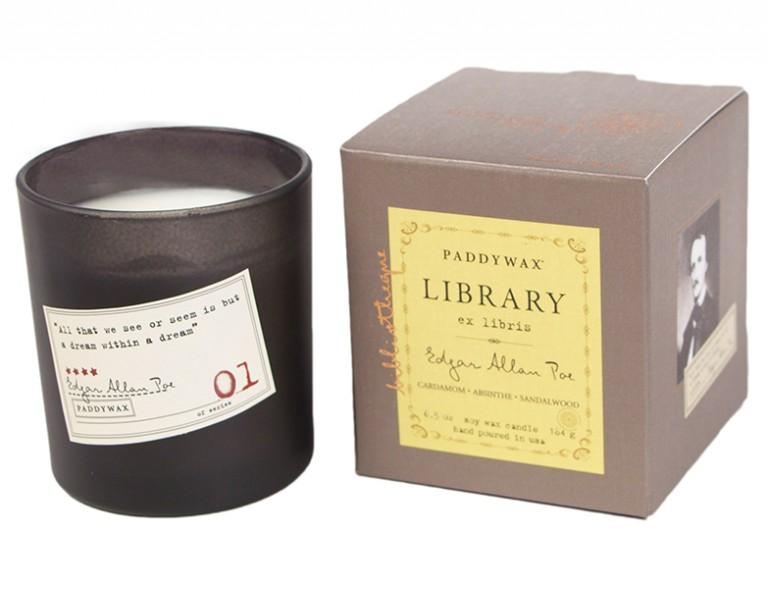 Edgar Allan Poe. Cardamom, Absinthe & Sandalwood - Library Glass Jar