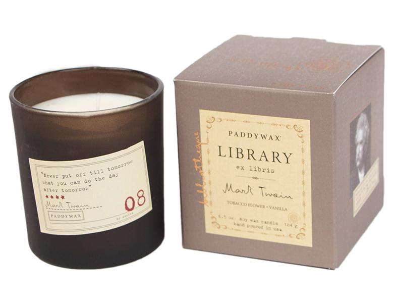 Mark Twain. Tobacco Flower & Vanilla - Library Glass Jar