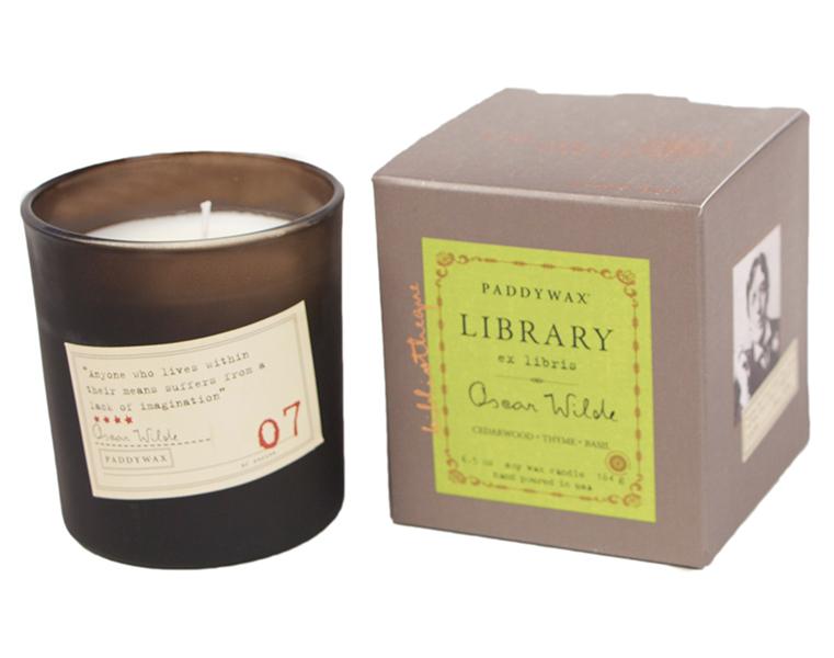 Oscar Wilde. Cedarwood, Thyme & Basil - Library Glass Jar