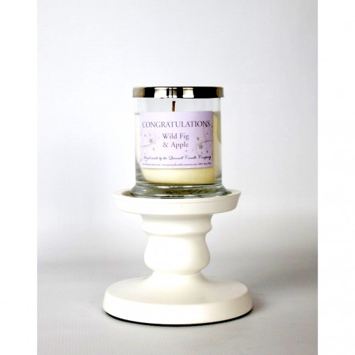 Congratulations - Glass Candle Small