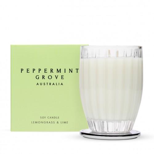 Lemongrass & Lime - Large Glass Candle Jar