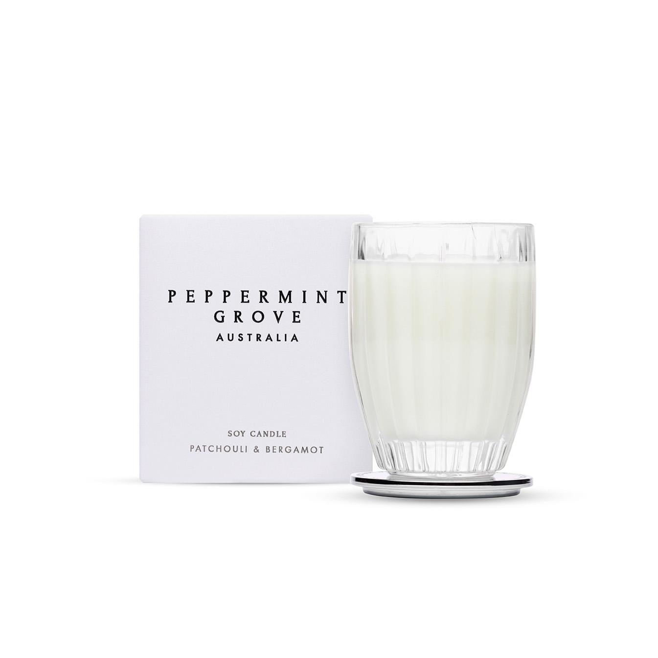 Patchouli & Bergamot - Medium Glass Candle Jar
