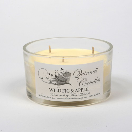 Wild Fig & Apple - Large Candle Glass