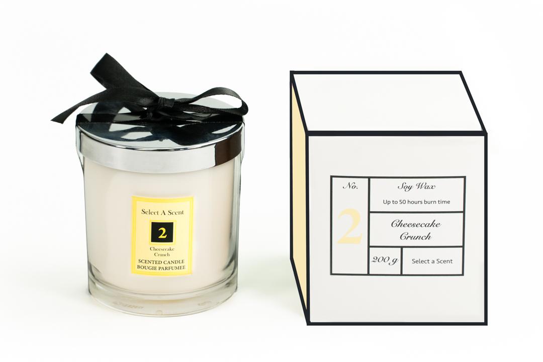 Cheescake Crunch - Glass Candle Jar